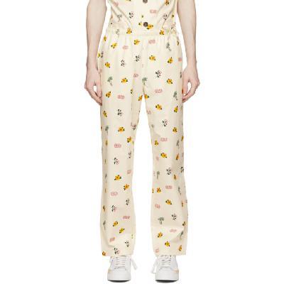 Clot Off-White All Over Print Pajama Lounge Pants