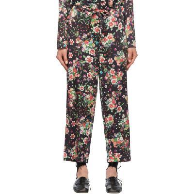 Comme des Garçons Comme des Garçons Black Silk Printed Lounge Pants