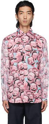 Comme des Garçons Shirt Multicolor Yue Minjun Edition Graphic Shirt
