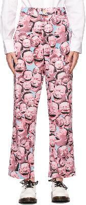 Comme des Garçons Shirt Pink Yue Minjun Edition Print Trousers