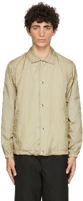 Comme des Garçons Shirt Beige Yue Minjun Edition Print Coach Jacket