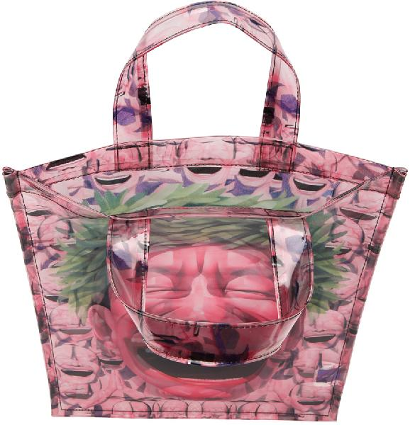 Comme des Garçons Shirt Pink Yue Minjun Edition Print Tote