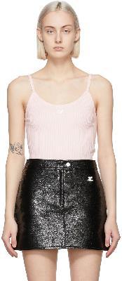 Courrèges Pink Rib Knit Tank Top