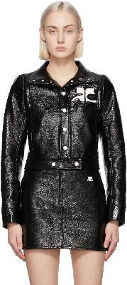 Courrèges Black Vinyl Jacket