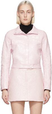 Courrèges Pink Vinyl Jacket