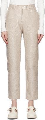 Courrèges Grey Vinyl Trousers