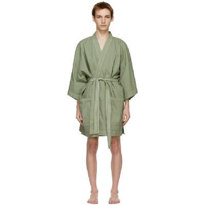 Double Rainbouu Khaki Linen EZ Robe