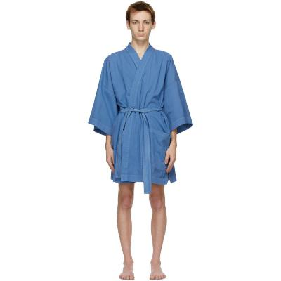 Double Rainbouu Blue Linen EZ Robe