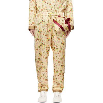 Doublet Beige Packable Pajama Lounge Pants