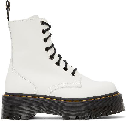 Dr. Martens White Jadon Platform Boots