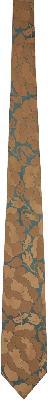 Dries Van Noten Beige Graphic Silk Tie
