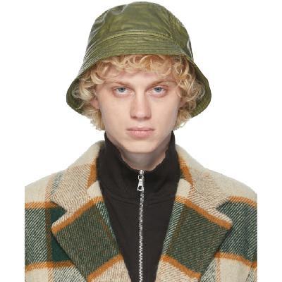 Dries Van Noten Green Quilted Bucket Hat