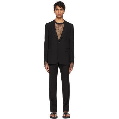 Dries Van Noten Black Twill Suit