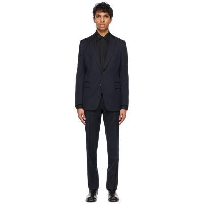 Dries Van Noten Navy Cotton & Wool Single Vent Suit