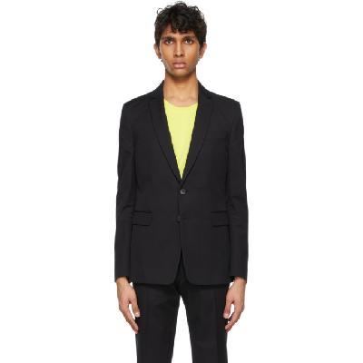 Dries Van Noten Black Cotton & Wool Suit