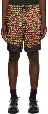 Dries Van Noten Red Viscose Printed Shorts