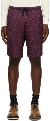 Dries Van Noten Burgundy Viscose Paisley Shorts