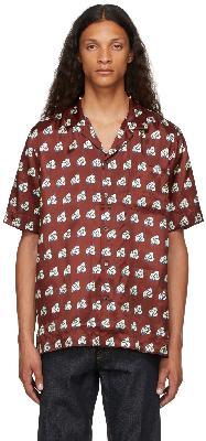 Dries Van Noten Burgundy Viscose Camp Shirt