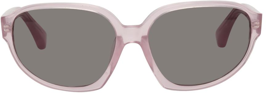 Dries Van Noten Purple Linda Farrow Edition Oversized Butterfly Sunglasses
