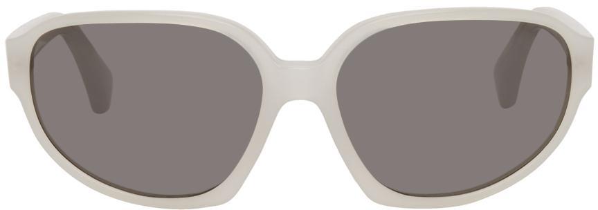 Dries Van Noten White Linda Farrow Edition Oversized Butterfly Sunglasses