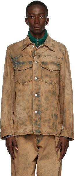 Dries Van Noten Beige Denim Dyed Jacket