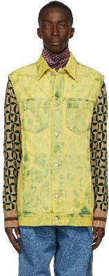 Dries Van Noten Yellow Bleached Denim jacket