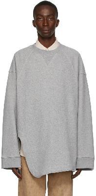 Dries Van Noten Grey Heavy Weight French Terry Sweatshirt
