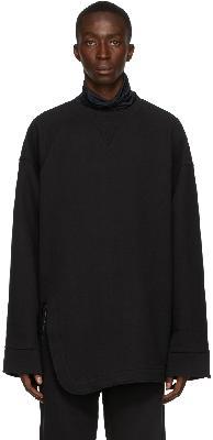 Dries Van Noten Black Heavy Weight French Terry Sweatshirt