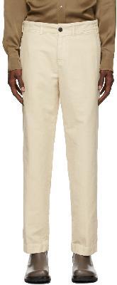Dries Van Noten Beige Brushed Cotton Trousers