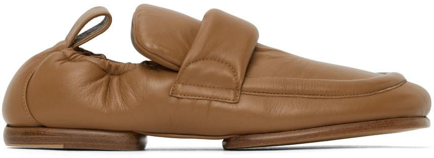 Dries Van Noten Beige Leather Padded Loafers