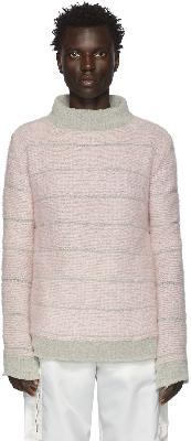 Eckhaus Latta Grey & Pink Poodle Sweater