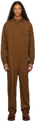 Engineered Garments Brown Twill Racing Jumpsuit