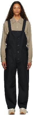 Engineered Garments Navy Cotton Waders Jumpsuit