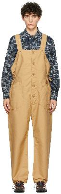 Engineered Garments Khaki Cotton Waders Jumpsuit