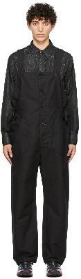 Engineered Garments Black Cotton Waders Jumpsuit