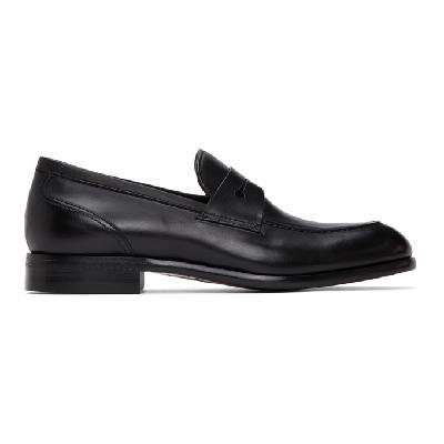 Ermenegildo Zegna Black Leather Marcello Moccasin Loafers