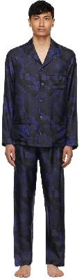 Ermenegildo Zegna Indigo Silk Classic Pyjama Set