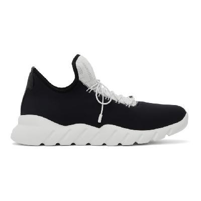 Fendi Black & White Tech Knit Sneakers
