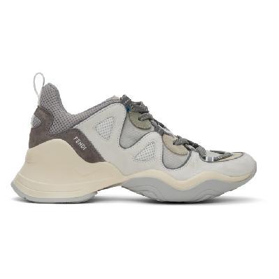 Fendi Grey FFluid Low-Top Sneakers