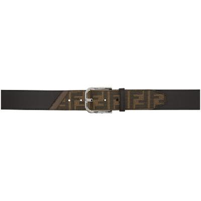 Fendi Black 'Forever Fendi' Canvas Belt