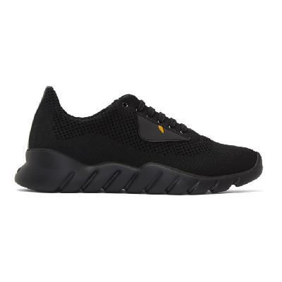 Fendi Black Bag Bugs Knit Sneakers