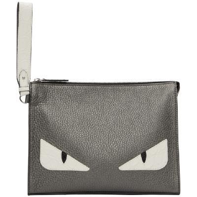 Fendi Silver Bag Bugs Pouch