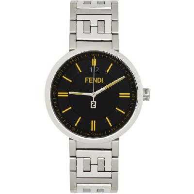 Fendi Silver & Black 'Forever Fendi' Watch