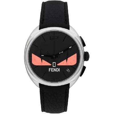 Fendi Black & Pink 'Momento Fendi' Bugs Chronograph Watch