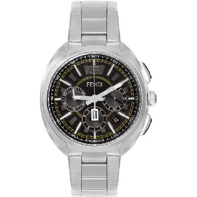 Fendi Silver 'Momento Fendi' Chronograph Watch