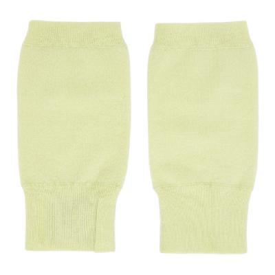 Frenckenberger Green Cashmere Fingerless Mittens