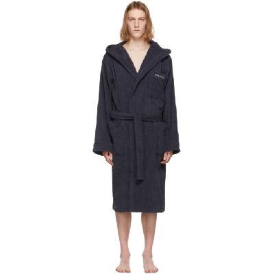 Giorgio Armani Navy Terrycloth Robe