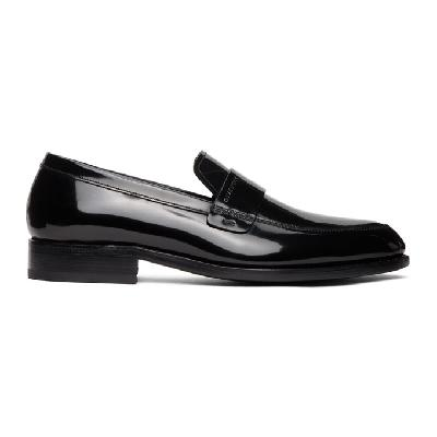 Givenchy Black Shiny Leather Loafers