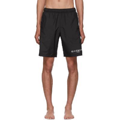 Givenchy Black Long Swim Shorts