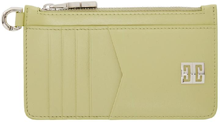 Givenchy Green 4G Zipped Card Holder